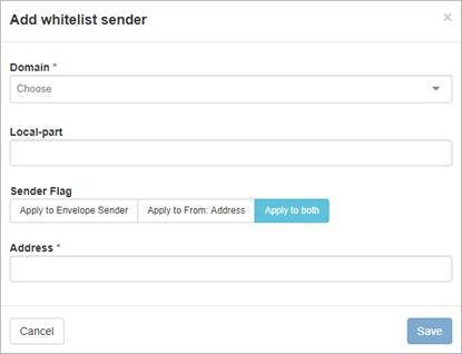 Manage Sender Whitelist