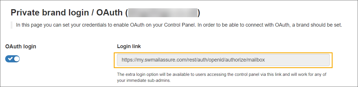 Configure SSO/OAuth with Office 365