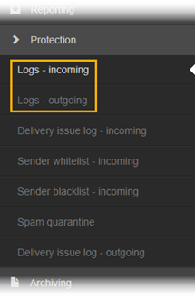 using the log search