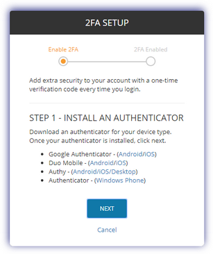 Step 1 Install an Authenticator
