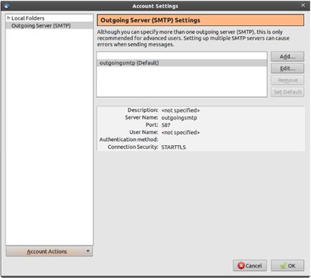 Configure Thunderbird to Access the IMAP Quarantine